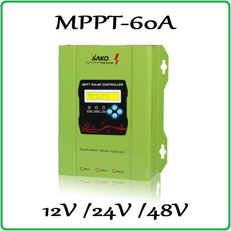 60A 100% Solar Charge Controller 12V 24V 48V Auto-work PV panel Battery Charge Regulator 40A 50A 60A real MPPT solar controller high quality 12v 24v 48v auto 60a mppt solar charge controller