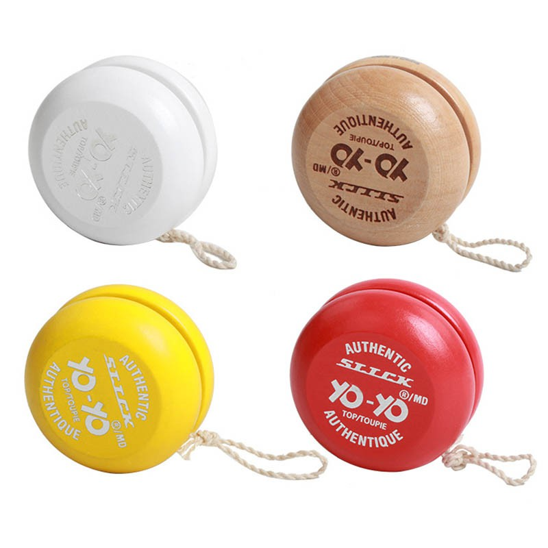 1 Pcs  Wooden YOYO Kids Classic Toys Xmas Gifts Kindergarten School Carnival Loot Bag Filler Random Color J2