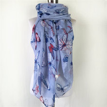 New Fashion Soft spring winter Scarf Women Female Viscose Scarves Butterfly Long scarf for women echarpe foulard scarves