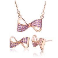 Wholesale Free Shipping 925 Silver Fashion Jewelry Set Zircon Jewelry Sets T419