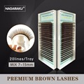 3 casos/bandejas 20 Filas 7-15Mix Falsa Extensión de Pestañas Falsas Pestañas de Visón Pestañas de Color Marrón Oscuro de Color Marrón Natural Lash