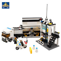 KAZI 6727 Police Station Building Blocks Bricks Educational Toys Compatible With All Brand City Birthday Gift