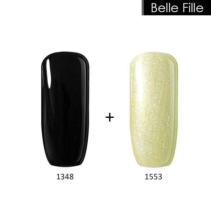 Belle Fille УК гель Қара түсті DIY Nail Gel - Маникюр - фото 2