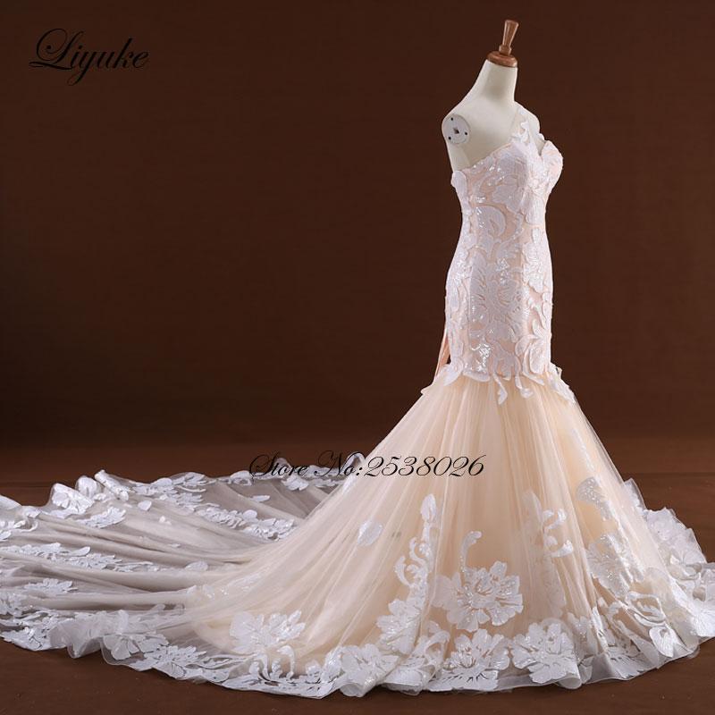 Θαυμάσια Tulle V-Neck Ράφι Backless Γοργόνα - Γαμήλια φορέματα - Φωτογραφία 2
