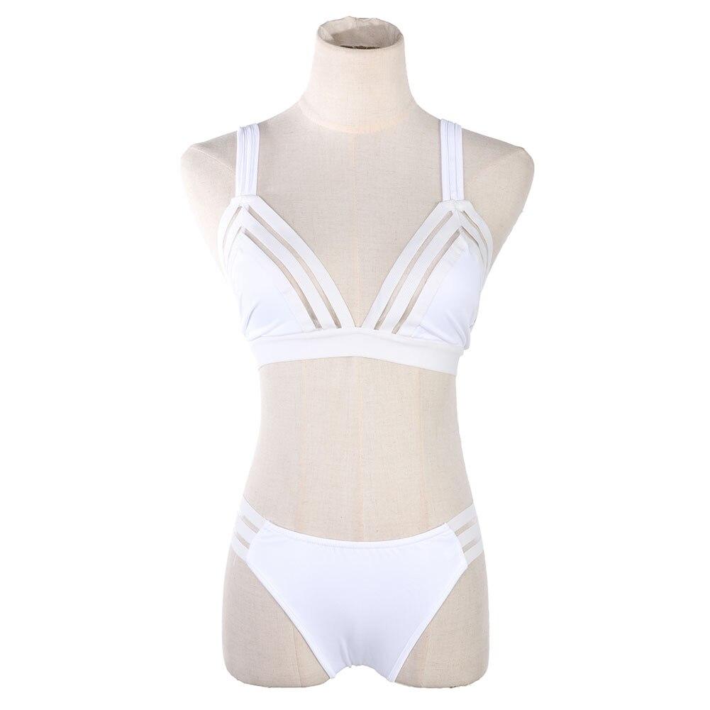 Women Sexy Push Up Bikini Two Pieces Suit Female Swimsuit Lowcut Beachwear Strappy Swimwear Thong Brazilian Bikini Bathing Set 3