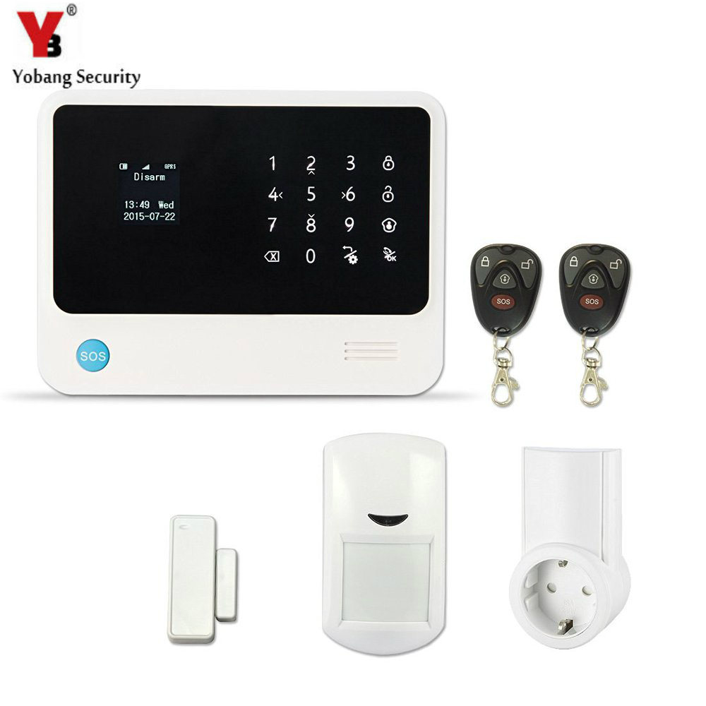 YobangSecurity Smart Home System WIFI Security Alarm IOS Android APP Control 433Mhz Wireless RF Socket Detector Sensor