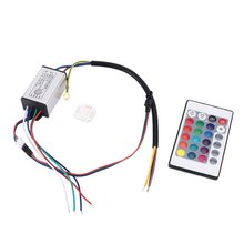 Светодиодный светильник для мотоцикла, комплект 10 Вт, полоски, атмосферный светодиодный светильник, Светодиодная лента RGB, многоцветный, с акцентом, светящийся неоновый светильник, s лампа с пультом дистанционного управления