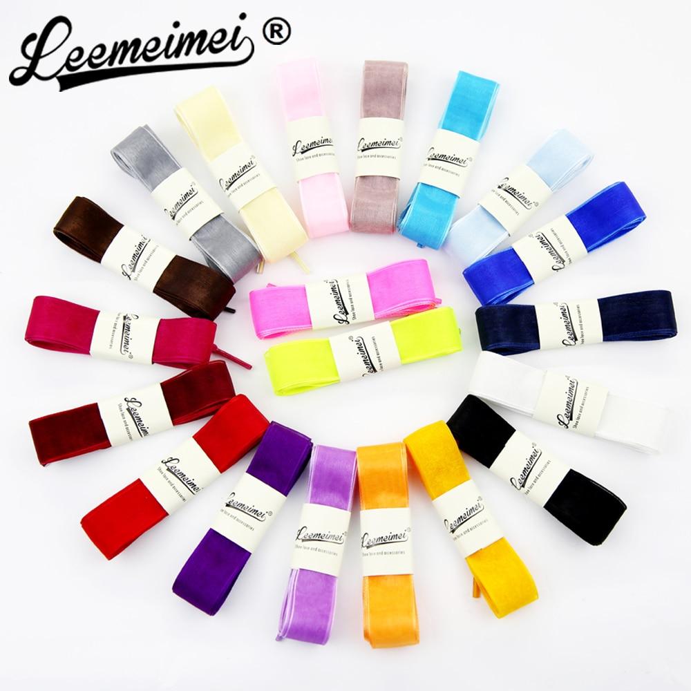 Fashion Princess Shoe laces Strings Multi Color Ribbon Shoe Laces Chiffon Shoelaces Adult & Child Sizes for sneaker