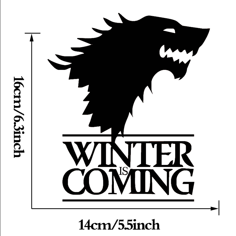 Winter Is Coming Wolf Game Of Thrones Car Sticker Decorative Head Of