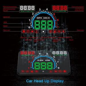 """Image 1 - באיכות גבוהה 5.8 """"Hud OBD2 ראש למעלה תצוגה רכב מהירות מקרן רכב שמשה קדמית ספידו ניווט מד מהירות צ דוויק E350"""