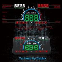 """Di alta Qualità 5.8 """"Hud OBD2 Head Up Display Velocità della Vettura Proiettore Parabrezza Del Veicolo Speedo di Navigazione Tachimetro CHADWICK E350"""