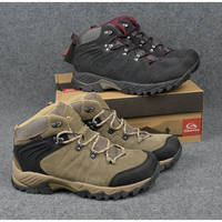 CLORTS Men Outdoor Hiking Shoes Male Cowhide Leather Waterproof Breathable Hiking Boots Walking Traveling Shoes MENS
