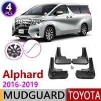 Voor Achter Auto Spatlap voor Toyota Alphard AH30 2016 ~ 2019 Fender Mud Guard Flap Splash Flaps Spatborden Accessoires 2017 2018