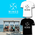 BTS plates youth WINGS new album out with a female student support surrounding clothes T-shirt