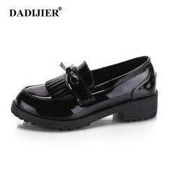 7ee806bda DADIJIER 2018 Mulheres Borla Casuais Arco Dedo Apontado Sapatos Oxford para  As Mulheres Apartamentos Deslizar sobre