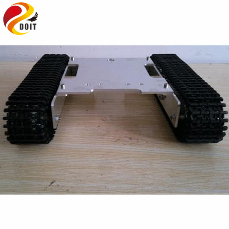 Official DOIT Tank Car Chassis/Tracked Car for Remote Control Robot Parts/ Crawler Robot Electronic Toy for DIY, Smart Car original doit tank robot car chassis kit caterpillar diy robot electronic toy remote control tracked smart car development kit