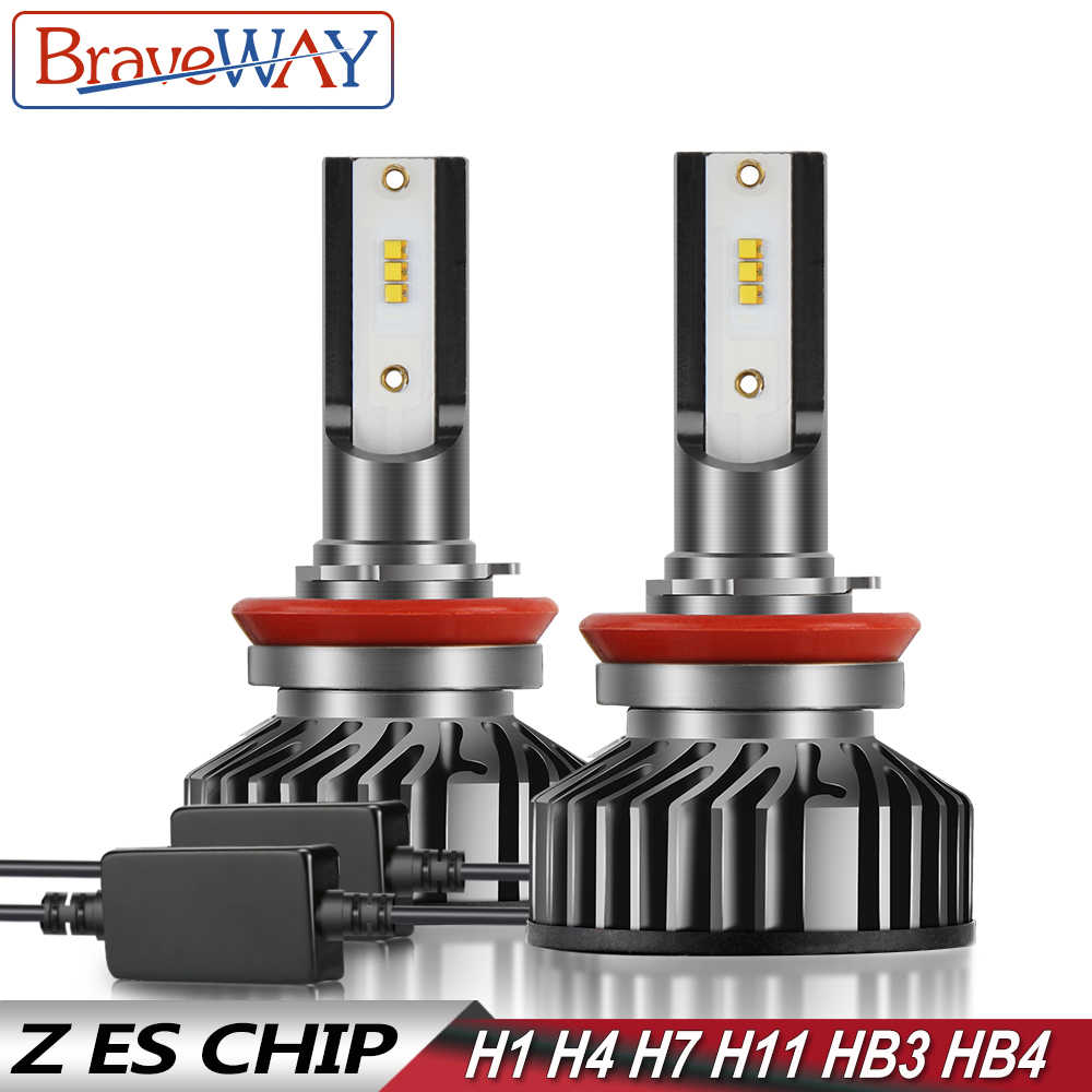 BraveWay LED Lamp H1 H4 H7 H8 H11 HB3 HB4 9005 9006 Car Light Bulbs LED Headlight with Canbus for Moto Auto motorcycle Far Beam