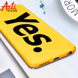 Funny Humor words Case For iphone X Case For iPhone 8 7 6 6S Plus Case 360 Protect Shell Yellow Back Cover Phone Cases Artisome