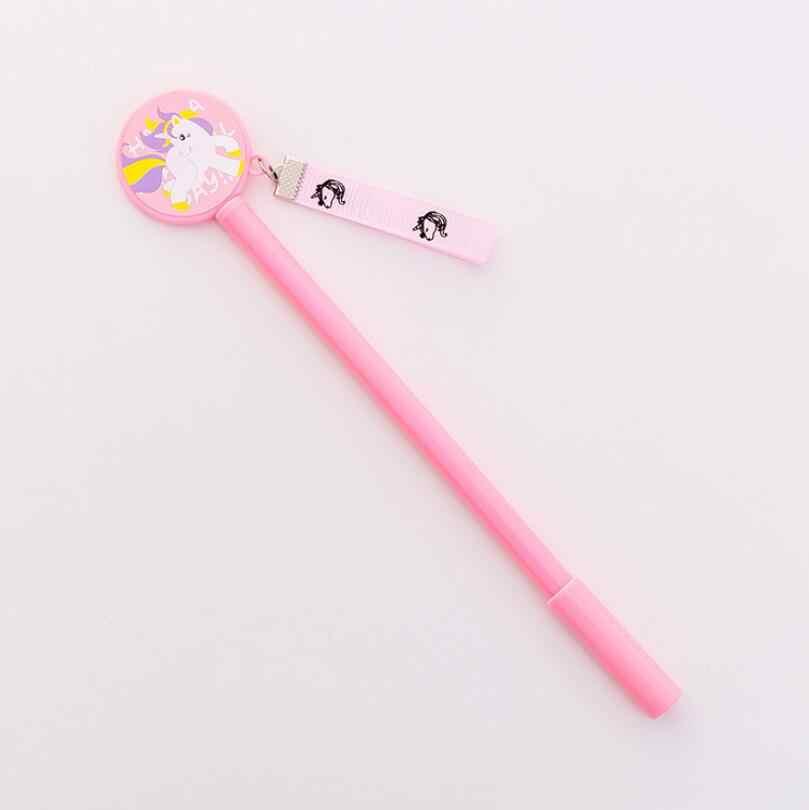 Lytwtw's เครื่องเขียนปากกาน่ารัก Angel Horse เจลปากกาโรงเรียนซัพพลาย Office Creative Handle ของขวัญจัดแต่งทรงผม Unicorn Kawaii นวนิยาย