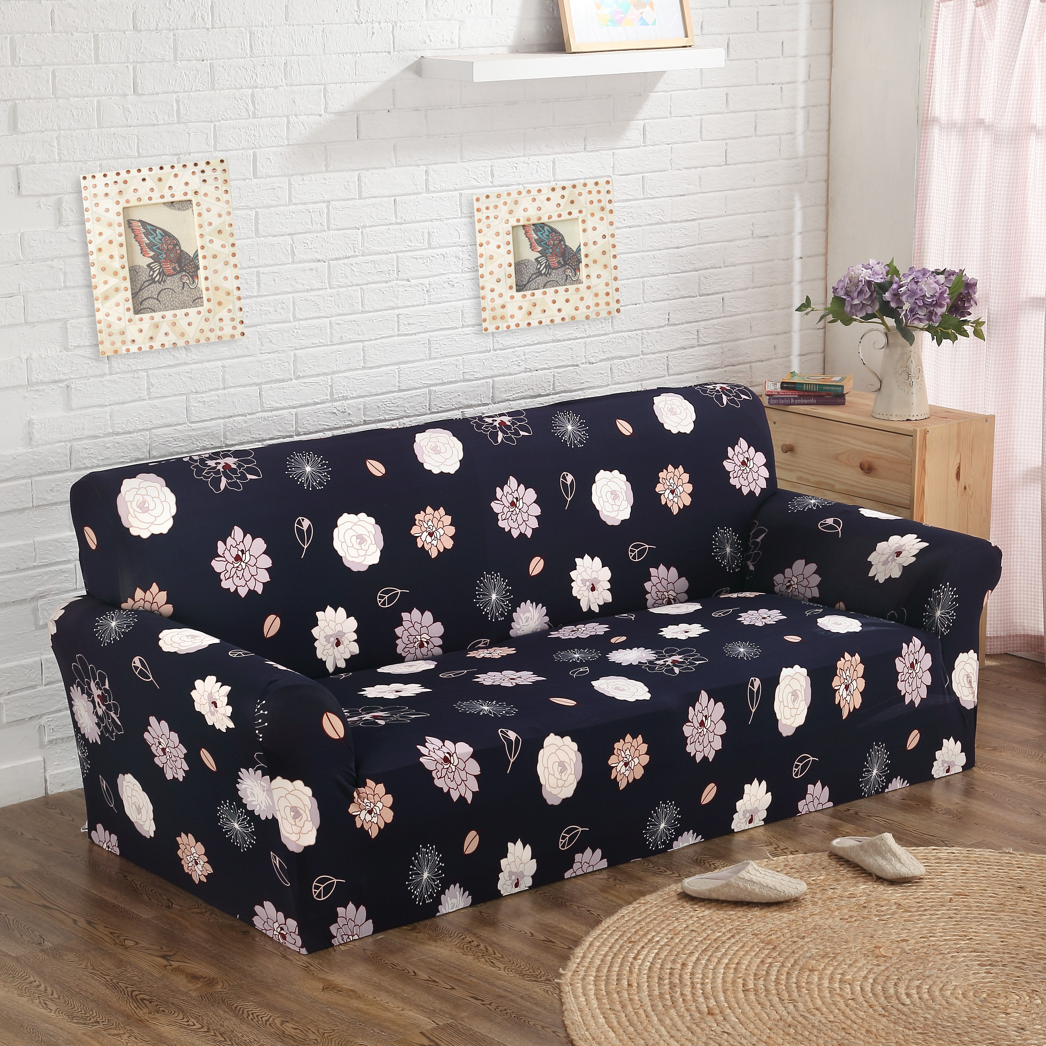 line Shop Cheap couch cover with flowers pattren 100% polyester