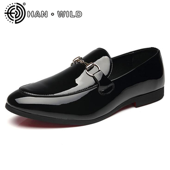 Pria Sepatu Kulit Pantofel Sepatu Gesper Tali Pernikahan Sepatu Pria Oxford Flats Pria Bisnis Sepatu Ukuran 37 -48