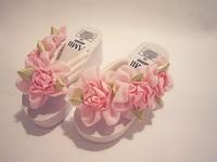 2018 Korean Summer Sweet Stereoscopic Thickening Sole Custom Handmade Sewing Flowers Ribbon Deocrate Girls Slippers