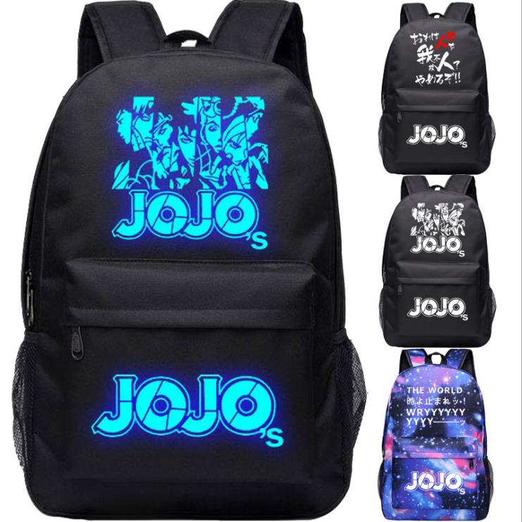 Printing Backpack School-Bags Bizarre-Adventure Anime Mochila-Feminina Oxford Jonathan