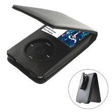 Luksusowe PU skórzane etui z klapką dla Apple iPod Classic 6th Gen 80GB 120GB 7. 160GB obudowy ochronne coque fundas czarny
