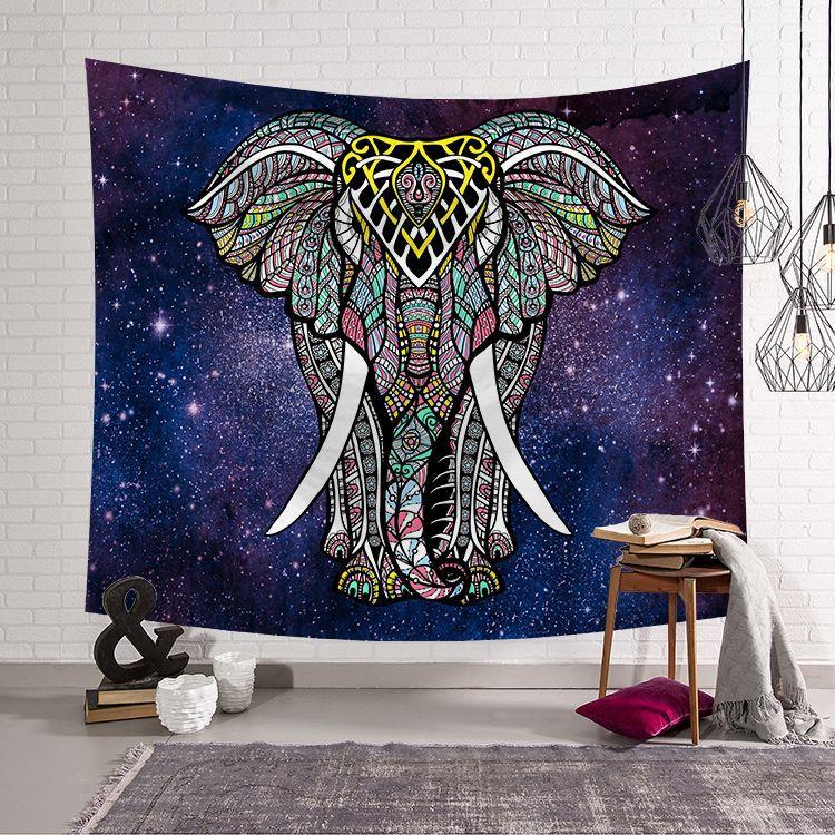 India mandala Elephant tapestry wall hanging decor blanket Mandala boho datura exotic beach towels yoga mat carpet