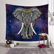 India mandala Elephant tapestry wall hanging decor blanket Mandala boho datura exotic beach towels yoga mat carpet