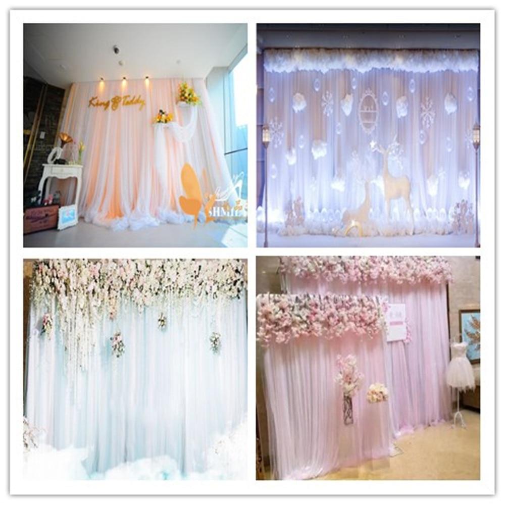 customize wedding arch drape Sash with ice silkCurtain Wedding Decoration Backdrop Hanging Curtains Birthday Party Decoration