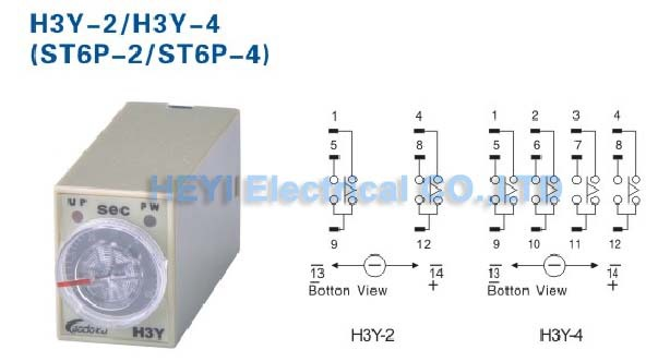 ST6P 2 timer delay relay with base 8 pin H3Y 2 AC 220V time relay-in