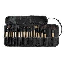 Top Quality!!! Professional 24 pcs Makeup Brush Set tools Make-up Toiletry Kit Wool Brand Make Up Brush Set Case Cosmetic brush