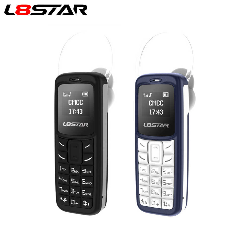 L8STAR BM30 Mini Ponsel Sim + TF Card Unlocked Ponsel GSM 2G/3G/4G Wireless headphone Bluetooth Dialer Headset Mobile dengan Mp3