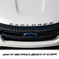 Car Sticker Emblem Badge For Ford Explorer Interceptor Letters Hood Metal 2 Colors Tuning Auto Car Styling Accessories