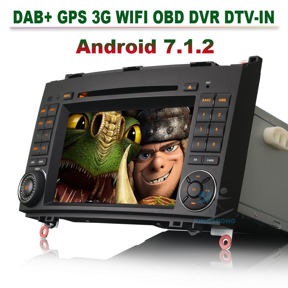 Android 7.1 DAB+ Autoradio for Mercedes B Class W245 B 200 Sprinter Viano Vito Radio GPS Navigation CD DVD MP3 Player 3G Wifi BT
