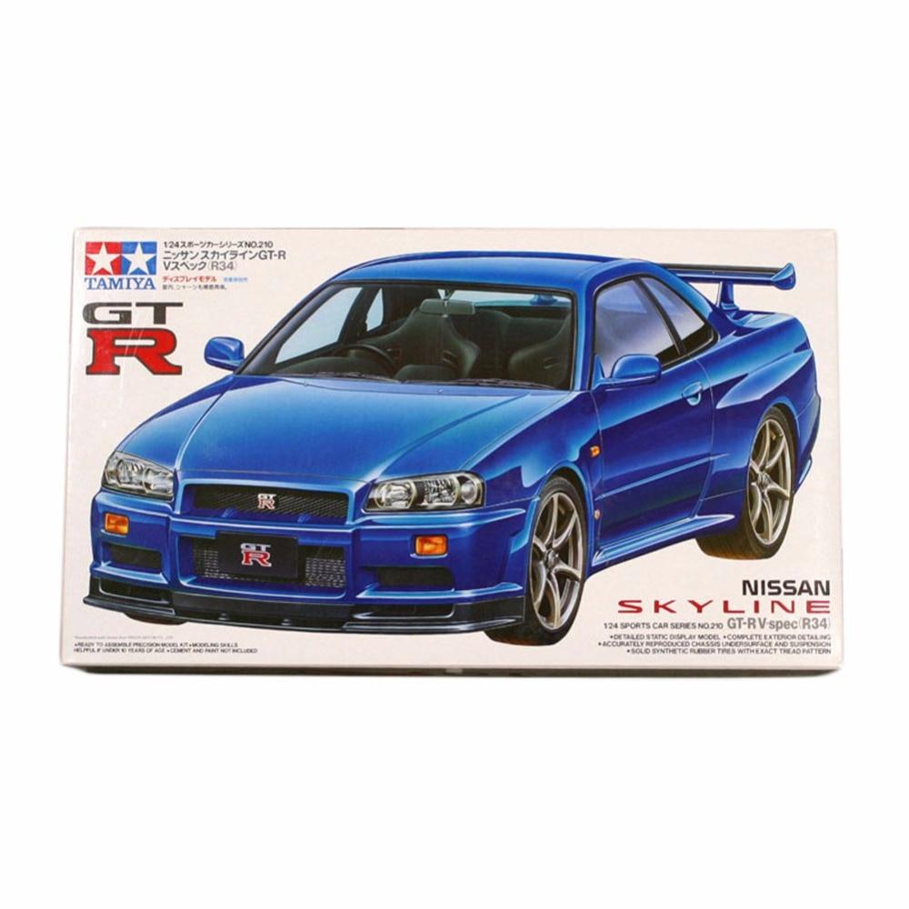 OHS Tamiya 24210 1/24 Skyline GT-R (R34) Car Model Building Kits G ohs tamiya 24282 1 24 nismo skyline gtr r34 z tune car model building kits oh