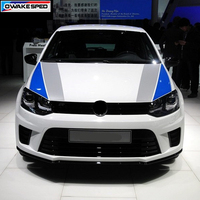 Sport Stripes Car Hood Sticker Racing Styling Customized Decal Auto Engine Cover Decals For Volkswagen POLO Golf