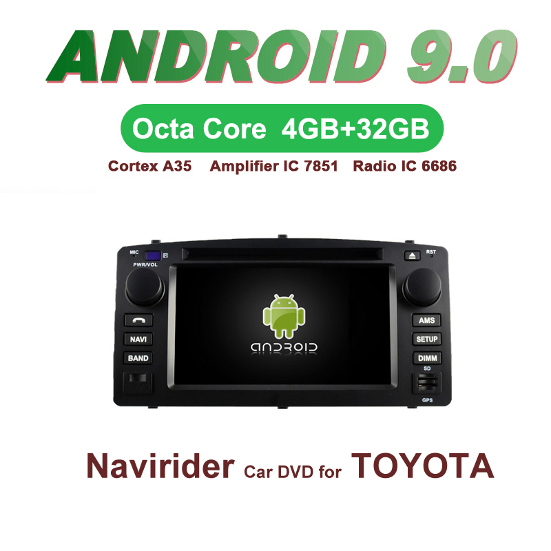 OTOJETA Car GPS 6.2inch Android 9.0 Radio FOR TOYOTA COROLLA 2004-2007 Navigation Capacitive screen support mirror linkOTOJETA Car GPS 6.2inch Android 9.0 Radio FOR TOYOTA COROLLA 2004-2007 Navigation Capacitive screen support mirror link