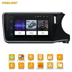 FEELDO 10,2 дюймовый большой HD экран Android 6,0 четырехъядерный автомобильный медиаплеер с радио gps-навигатор для Honda City 2015-2017 #2680
