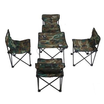 High-End Mobili Da Giardino Pieghevole Tavolo Scrivania E Sedia Camouflage Combinazione Impostata Per Tour Di Campeggio Di Picnic Nave Da STATI UNITI D'AMERICA