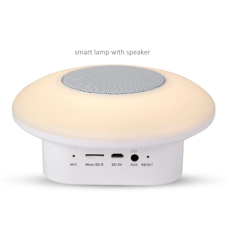 Willshi Night Light Bluetooth Speaker Bluetooth Colorful Table Lamp With TF Card Audio FM
