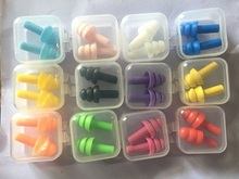 6Pairs box packed comfort earplugs noise reduction silicone Soft Ear Plugs Swimming Silicone Earplugs Protective for sleep