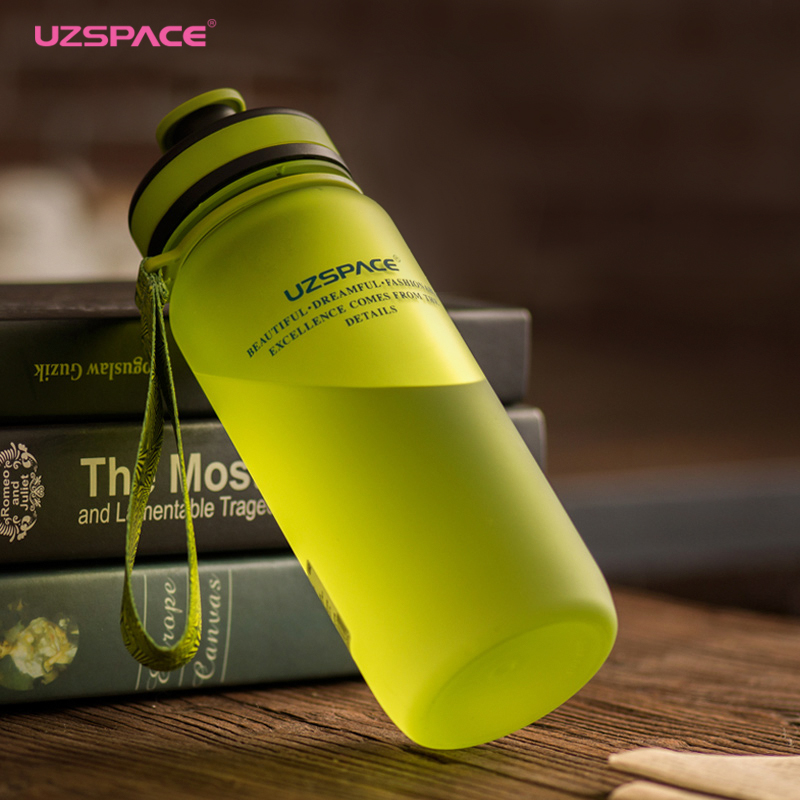 Uzspace 2017 Tritan BPA free 650 1000ml Sports Portable Space Travel Gym Climbing Cycling My plastic