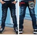 Новые Зимние мальчики теплый жан для 3 до 10 лет дети одежда мода стиль высокое качество дети брюки N907