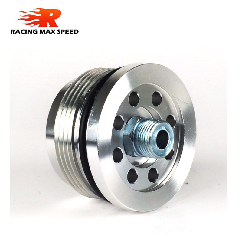 Auto aluminum Conversion of oil filter adapter oil sandwich plate Billet aluminum for smart for Two 450 models SW6-SI