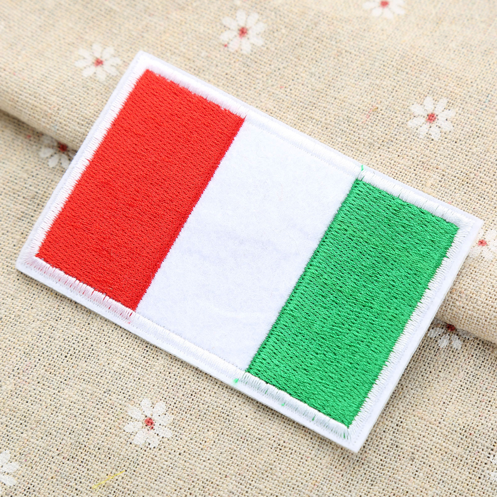 1 x italian italy flag patch patches iron sew on craft shirt fabric clothes new