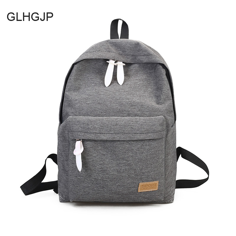 5ffcee91fb9c GLHGJP Fashion Canvas Women Backpack Casual Travel Bag Laptop Preppy Style  School Bag For Teenagers Girl Mochila Feminina Bolsa