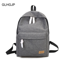 GLHGJP Fashion Canvas Women Backpack Casual Travel Bag Laptop Preppy Style School Bag For Teenagers Girl Mochila Feminina Bolsa