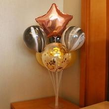 Wedding Decoration table balloons 10pcs/lot star/heart shaped balloons metallic latex balloon Birthday  Anniversary Party Decor